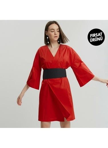 Yargıcı Kadın Kimono Elbise 9KKEL7121X Kırmızı